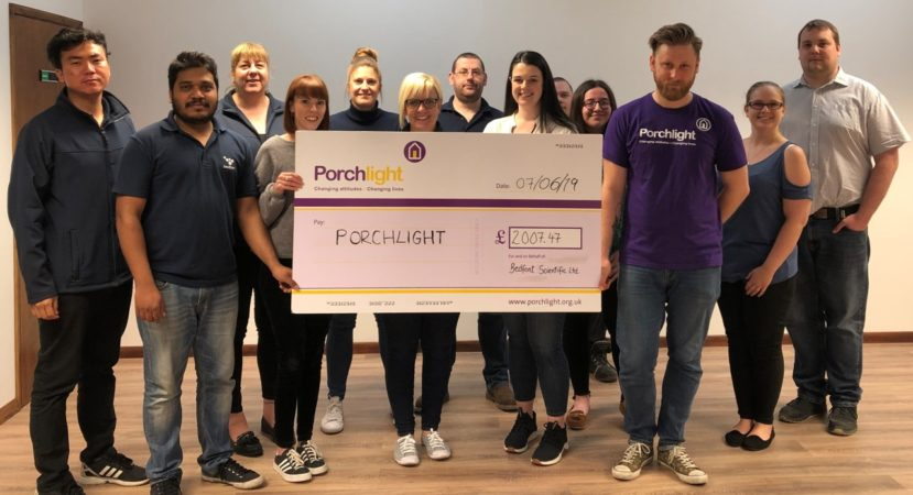 Local med-tech company, Bedfont, raises £2000 to help the homeless
